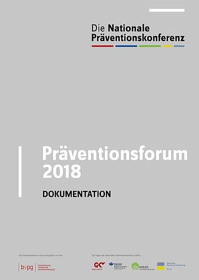 Cover Dokumentation Präventionsforum 2018