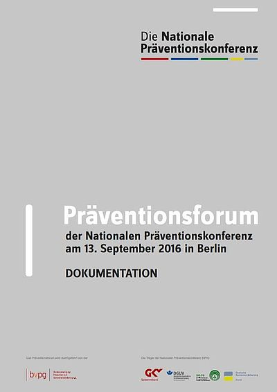 Cover Dokumentation Präventionsforum 2016